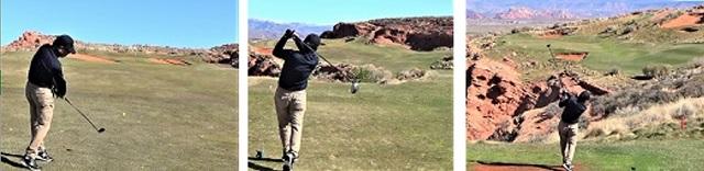100前後でプレーされていた65歳の男性が、短期ゴルフ留学に来られました。